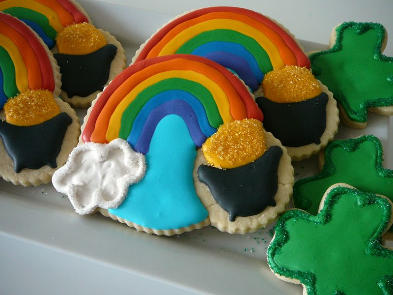 St. Patick's Day Rainbow Cookies - The Crafting Foodie