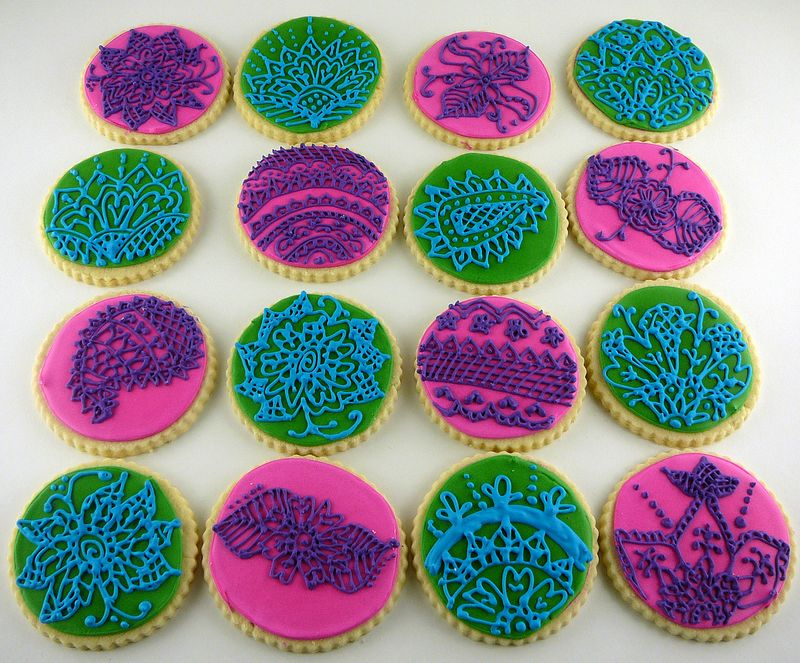 Henna Inspired Sugar Cookies | The Crafting Foodie