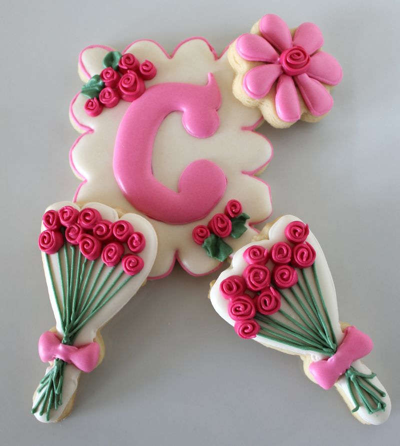Spring Inspired Rose Cookies | The Crafting Foodie