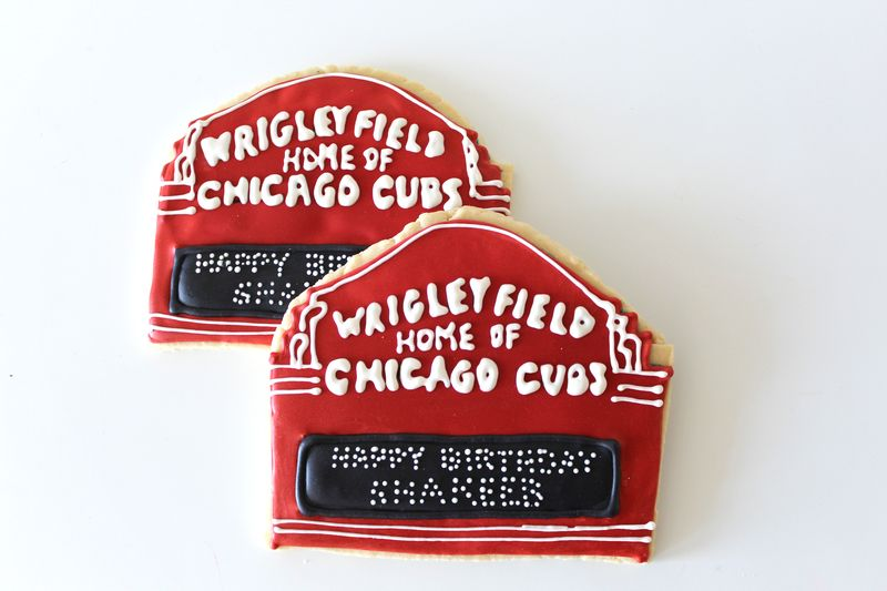 Chicago Themed Sugar Cookies | The Crafting Foodie