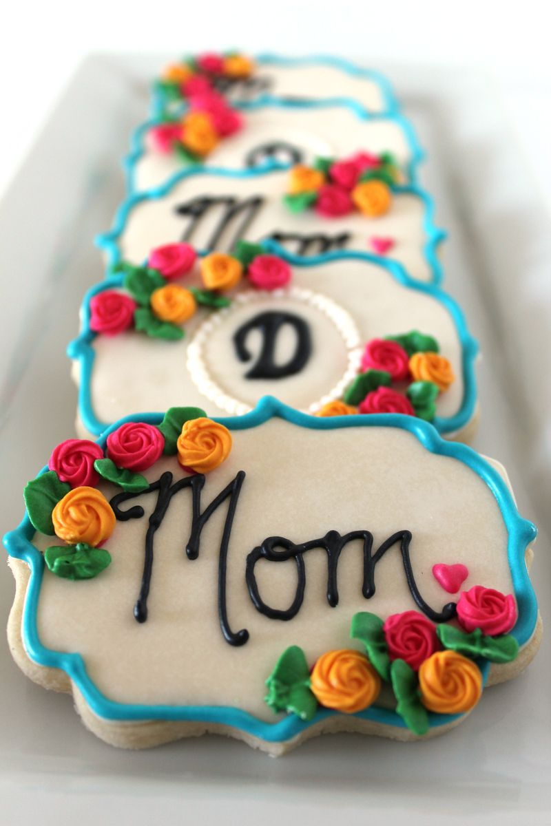 Mothers Day Decorated Cookies