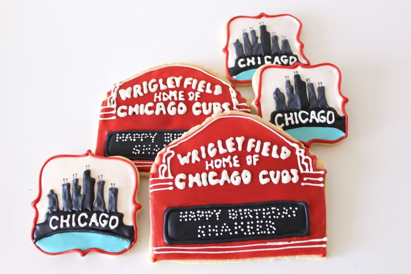 Chicago Theme Decorated Cookies | The Crafting Foodie