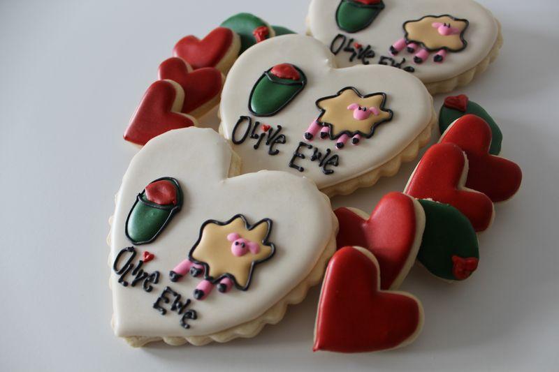 Olive Ewe Valentine's Cookies   The Crafting Foodie