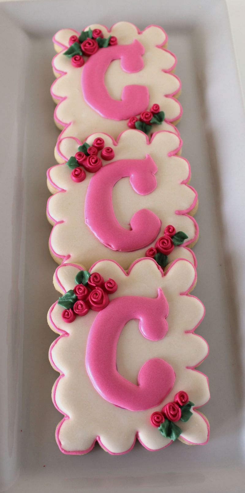 Spring Inspired Monogram Cookies | The Crafting Foodie
