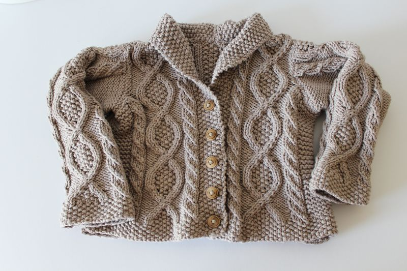Shawl Collar Cardigan | The Crafting Foodie
