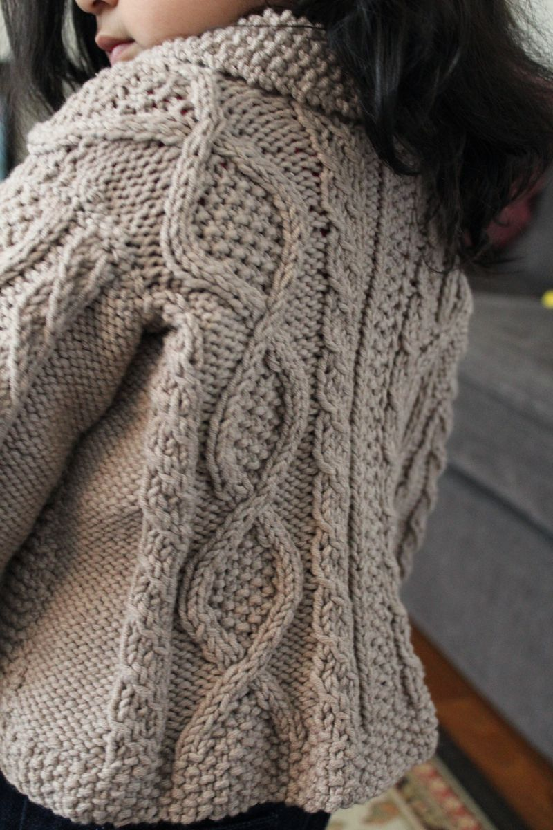 Shawl Cable Cardigan | The Crafting Foodie