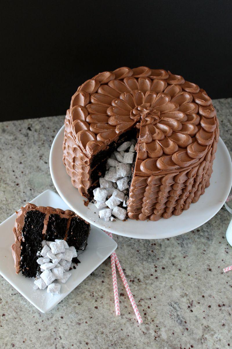 Muddy Buddy Pinata Cake | The Crafting Foodie